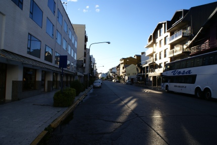 The Main Street Near My Hostel-Bariloche-3-26-2011.jpg