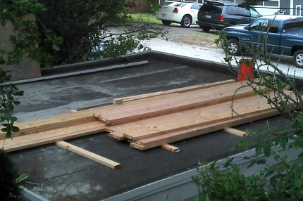 Wood Deployed For The Big Rebuild 7-6-2011.jpg